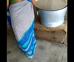 Indain green saree aunty hot aunty