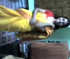 Indian lucknow sexually sexually excited dark 10-Pounder whores stripping saree after orchestra